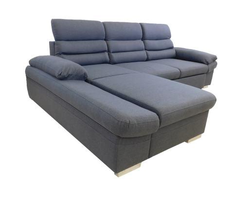 Chaise longue grande. Sofá con cama, arcón y reposacabezas reclinables - Capri