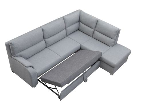 Bed Opening Mechanism. Corner Sofa Bed with Open End - Crete