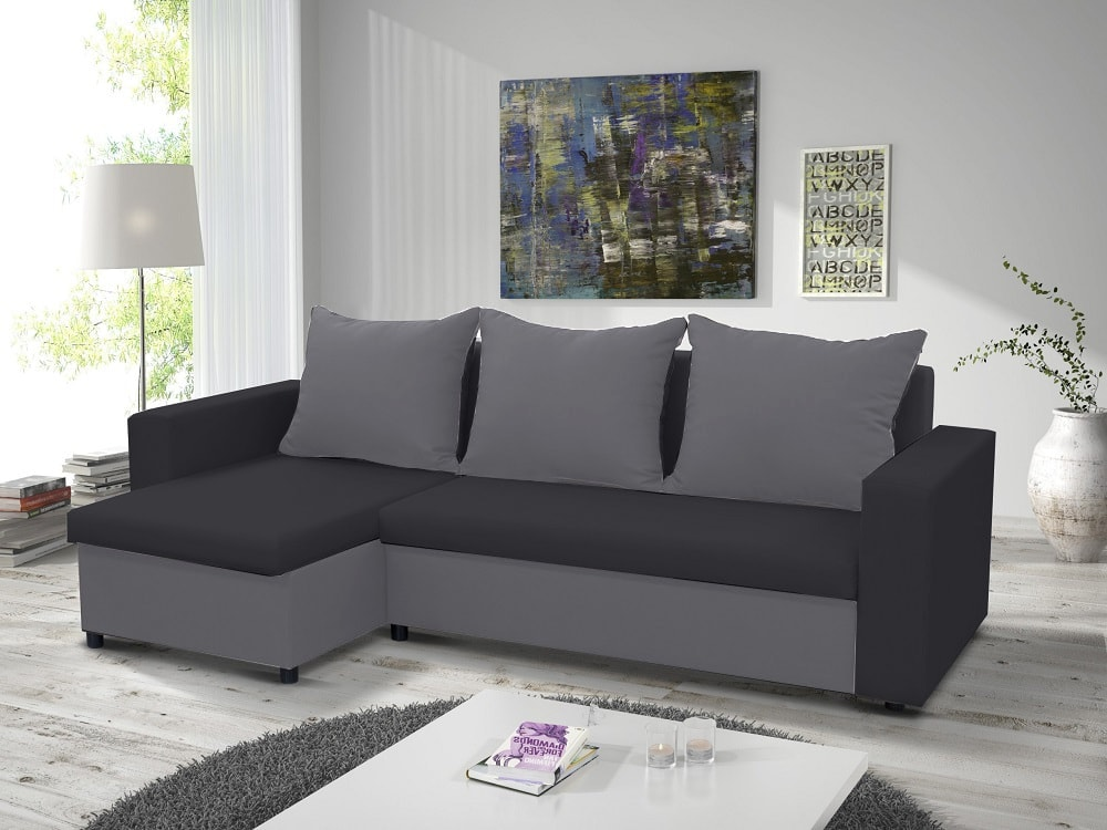 Chaise Longue Sofa Bed With 2 Storage Compartments Turin