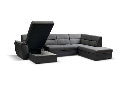 Arcón. Sofá cama grande en forma de U - Montreal