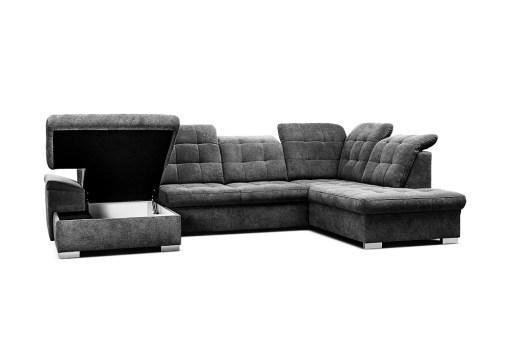 Arcón. Sofá en forma de U con reposacabezas reclinables - Toronto. Esquina al lado derecho