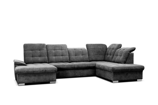 Reclining Headrests. U-shaped Sofa with Pull-out Bed - Toronto