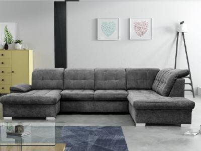Sofá en forma de U con reposacabezas reclinables - Toronto. Esquina al lado derecho. Tela Alfa 19