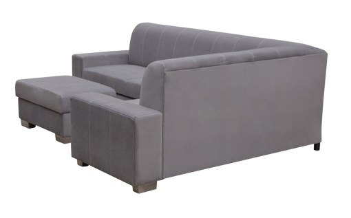 Outer Backrest. Corner Sofa Bed (4 Seater) with Pouffe - Sardinia
