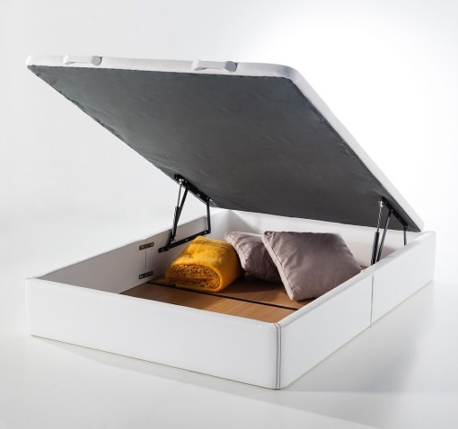 Canapé abatible tapizado - Basel con almacenaje para guardar ropa de cama