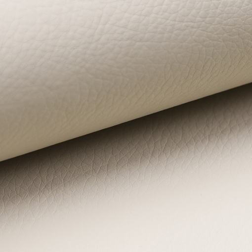 Piel sintética de color beige del sofá cama modelo Tarancón