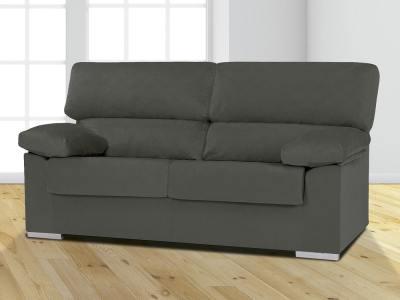 Недорогой трёхместный диван, синтетическая ткань - Salamanca. Коричневый цвет, ткань Melissa