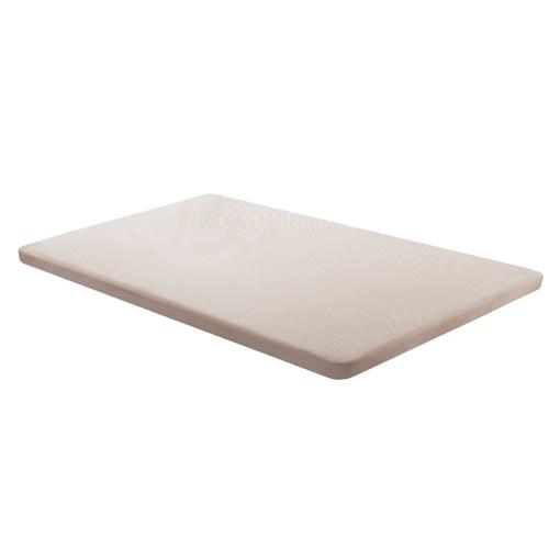 Base tapizada 105 x 190 cm, color beige, sin patas - Bazio