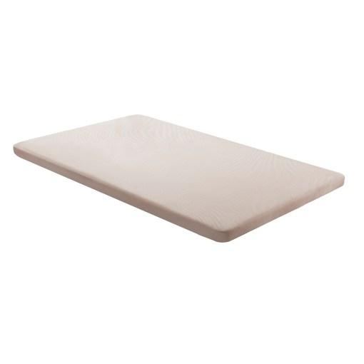 Base tapizada 90 x 190 cm, color beige, sin patas - Bazio