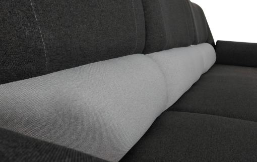 High Backrest. Chaise Longue Sofa Bed - Parma