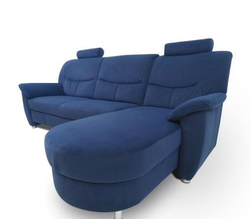 Sofá cherlon en color azul tapizado en tela - Claudia