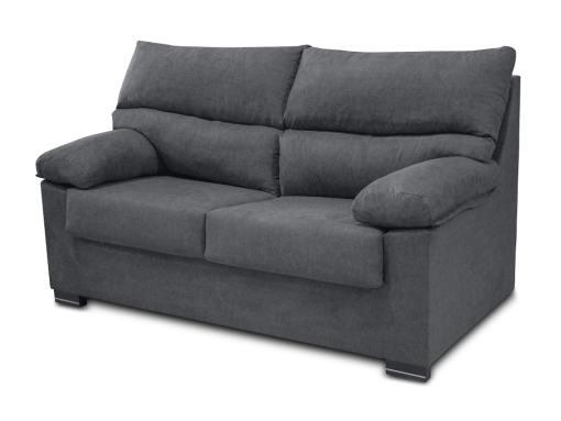 Sofá 3 plazas económico tapizado en tela sintética gris - Salamanca