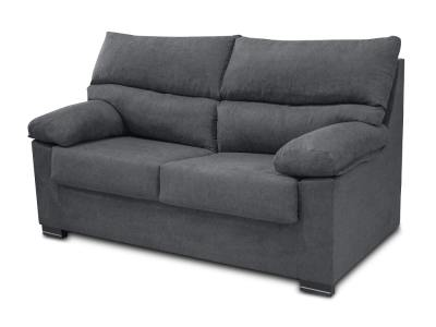 Inexpensive 3-seater sofa in synthetic fabric - Salamanca. Grey