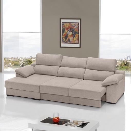 Asientos totalmente extraídos. Sofá cama con asientos deslizantes Alicante