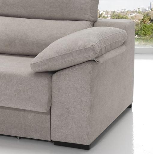 Cojines desenfundables. Sofá cama con asientos deslizantes - Alicante