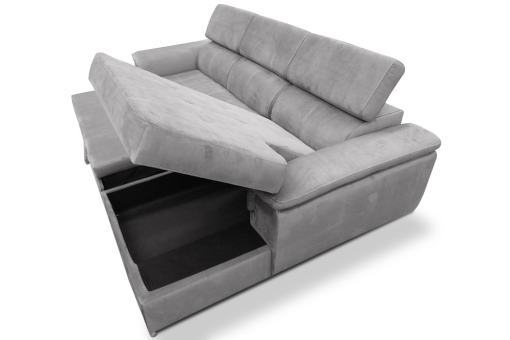 Arcón debajo de chaise longue. Sofá chaise longue cama, máximo confort - Hamburg