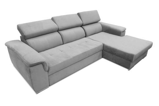 Cabezales abatibles. Sofá chaise longue cama, máximo confort - Hamburg