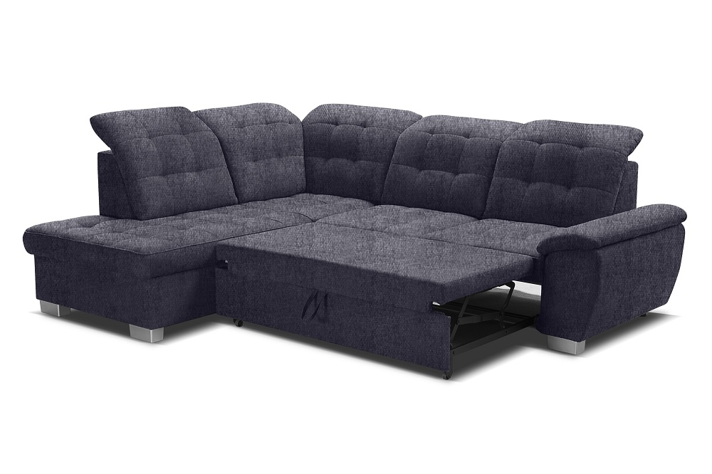 Corner Sofa With High Backrest, Reclining Headrests, Bed And Storage - Hamilton - Don Baraton