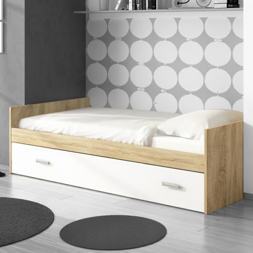 Bed with Pull out Trundle - Rimini