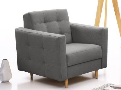 Кресло в скандинавском стиле - Karlstad. Серая ткань