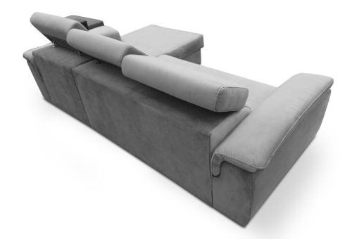 Tapizado detras. Sofá chaise longue cama, máximo confort - Hamburg