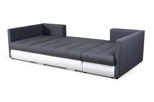 Turned Into Bed. Small U-shaped Sofa with Bed, 2 Chaise Longues, 3 Storages - Bora