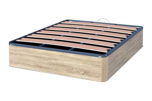 Inexpensive Ottoman Slatted Bed Base - Easy. Light Grey Color (Cambria). 135 x 190 cm
