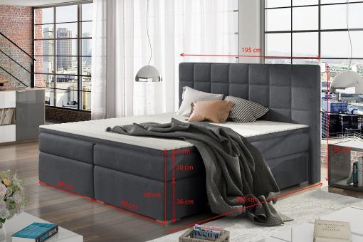Medidas de cama matrimonio 180 x 200 modelo Isabella
