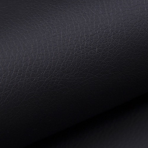 Black faux leather of the small corner sofa Brighton