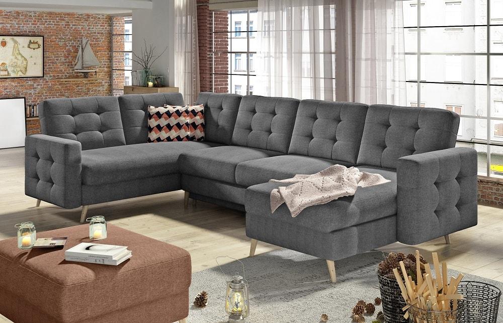 U-shaped Corner Sofa Convertible Into Bed - Copenhagen ...