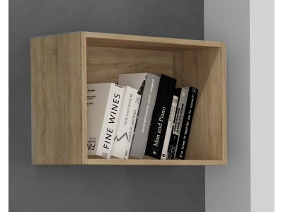 Cube Shelf in Light Brown (Oak) - Rimini