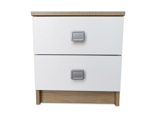 MDF 2 Drawer Bedside Table Model Model Rimini