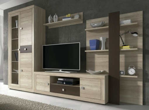 Living Room Furniture Set, 300 cm - Ravenna. Light brown and dark brown colours