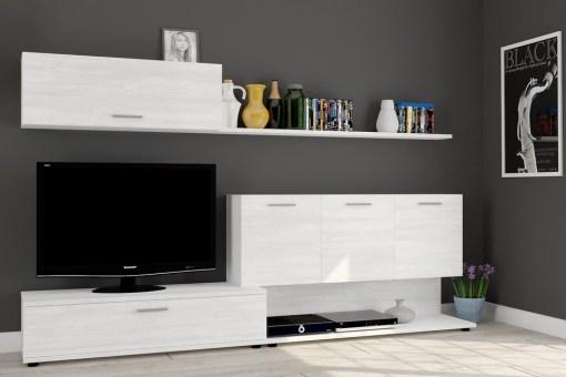 "Living room storage combination with TV stand, 250 cm - Ferrara. ""Pino"" Colour"