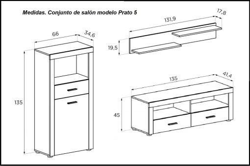 Medidas. Composición para salón pequeño - Prato 5