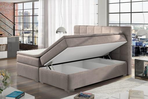 Almacenaje de cama box spring doble 140 x 200 cm modelo Isabella