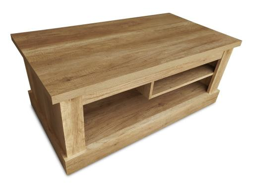 Mesa de centro 110 x 60 cm, con revistero, acabado efecto madera - Alabama