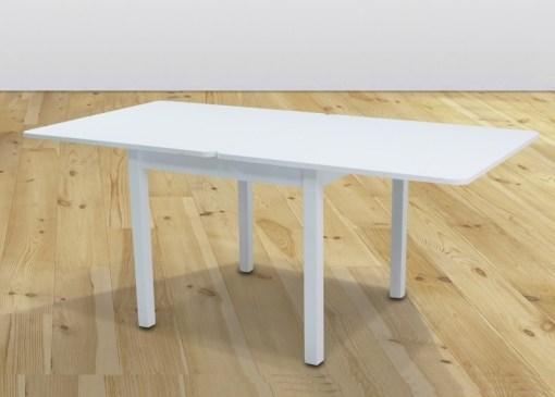 """Стол в разложенном виде. Квадратный стол """"книжка"""" 90 x 90 см - Vejle. Белый цвет"""