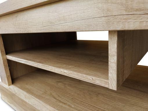 Revistero de la mesa de centro, acabado efecto madera, modelo Alabama