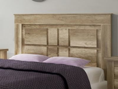 Floor Standing Headboard, Design with Rectangles, 160 cm - Alabama