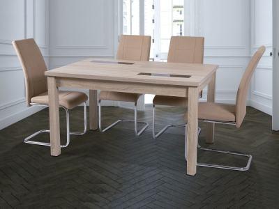Обеденная группа раскладной стол + 4 стула с мягкой обивкой - Catania /