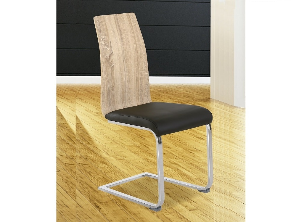 Modern Two Tone Dining Chair Black Amp Oak With