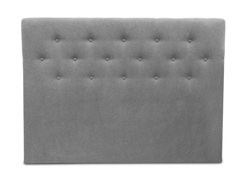 Cabecero cama doble, 160 x 120, tapizado en tela, con botones - Dream. Color gris