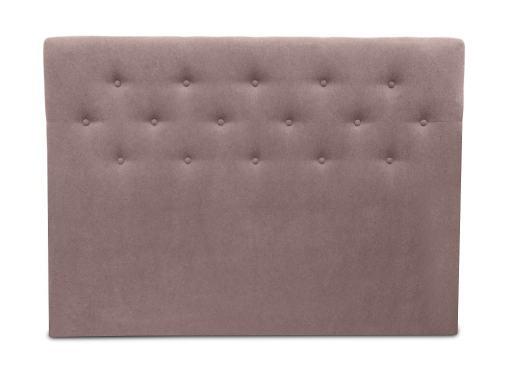 Cabecero cama doble, 160 x 120, tapizado en tela, con botones - Dream. Color marrón