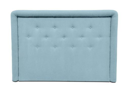 Headboard Upholstered in Fabric with Buttons, 170 x 120 cm - Good Night. Light Blue Colour