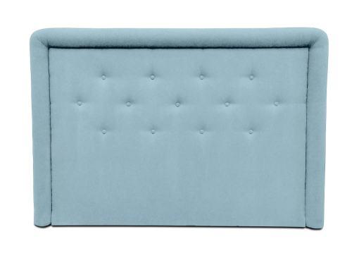 Cabecero de cama tapizado con botones, 170 x 120 cm - Good Night. Azul claro