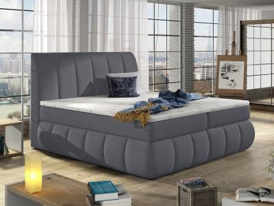 Super King Size Bed with Padded Headboard and Base, Modern Design, 180 x 200 cm - Ana