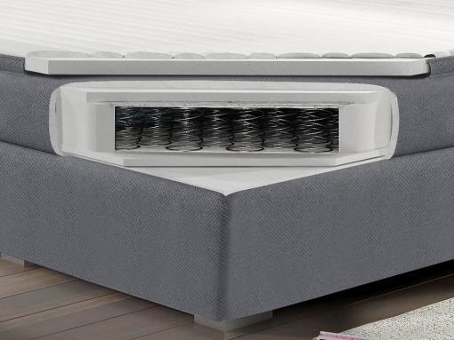 Colchón de muelles bonell 180 x 200 cm y topper de cama con luces LED modelo Barbara