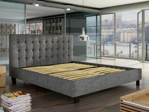 Реечная база двуспальной обитой тканью кровати Margarita 140 x 200 см