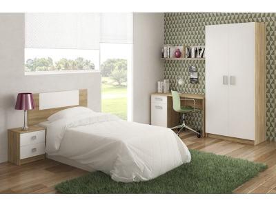 Спальный гарнитур: шкаф, письменный стол, тумба, полка и изголовье - Rimini 07